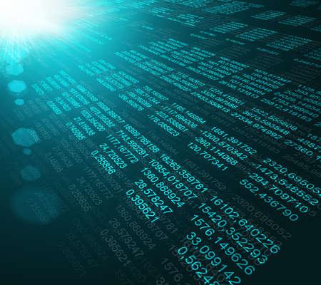 meta data: Modern display of data source code. Programming code abstract screen of software developer Stock Photo