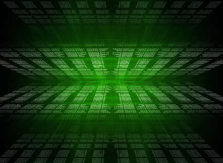 numbers abstract: Green Digital Abstract background with numbers and light