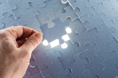 final piece of puzzle: Missing jigsaw puzzle piece for completing the final puzzle piece