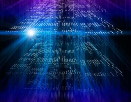 기술 현대 화면. 디지털 사이버 패턴입니다. 컴퓨터 개념