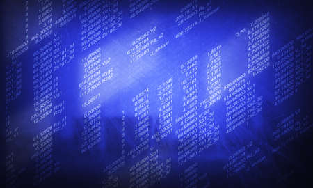 データ ソース コードの現代的な表示。ソフトウェア開発者のプログラミング コードの抽象的な画面
