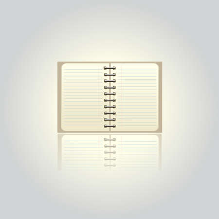 pad: Blank pad isolated on white background, vector illustration Illustration