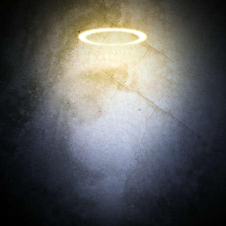 nimbus: Nimbus on grey wall background with light