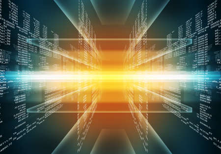 nombres: code informatique binaire. Matrice bleu et rouge abstrait