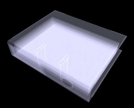 file folders: Xray binder file folders on black background