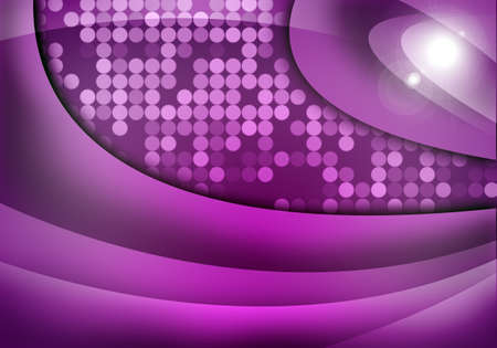 art abstract background: Abstract purple background with light spots and waves