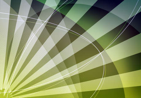 green lines: Abstract green background with light spots and lines
