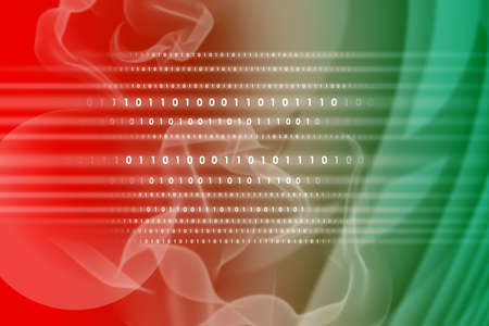 numbers abstract: Abstract green and red background with numbers