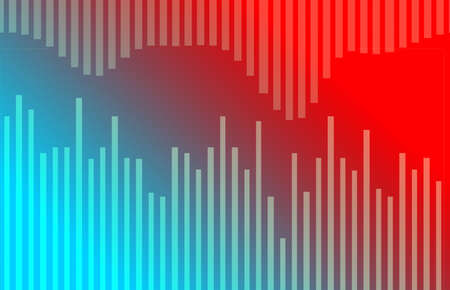 red and blue: Abstract blue and red background with light spots Stock Photo