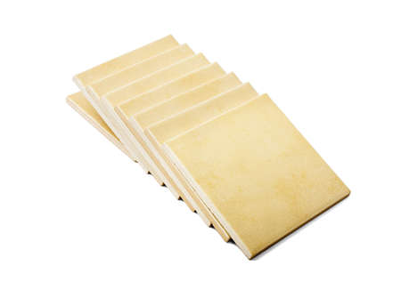 Conjunto de baldosas aisladas sobre fondo blanco