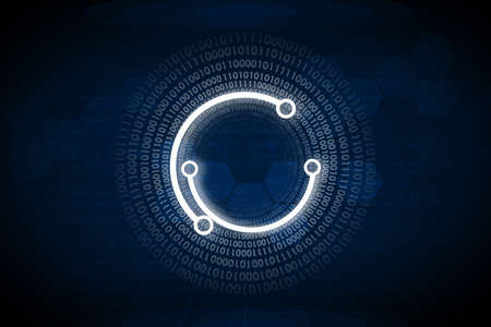 numbers abstract: Abstract blue background with numbers and circles