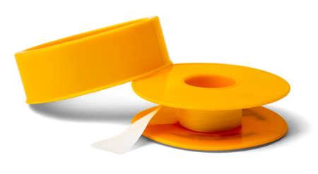 adhesive: Adhesive tape isolated on white background, closeup