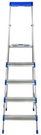 stepladder: Stepladder front view, isolated on white background