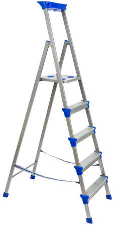 metallic stairs: Ladder for construction, isolated on white background