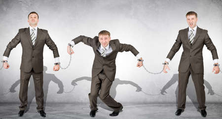 dishonesty: Handcuffs, white collar crime, arrest of people