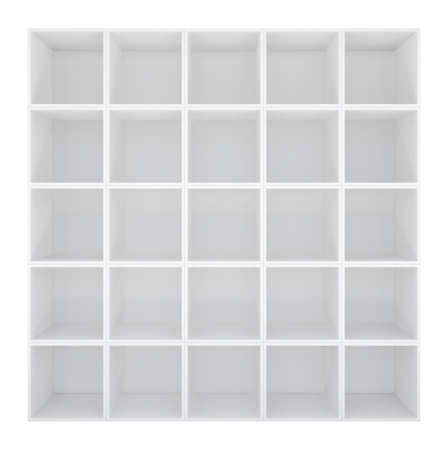 storage compartment: White wooden cupboard on white background. 3D rendering