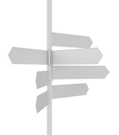 locations: Sign Post pointing different directions for locations. 3D illustration Stock Photo