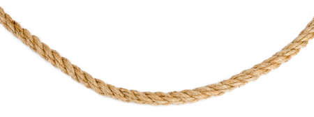 Ship rope isolated on white background, closeup Stok Fotoğraf - 57021030