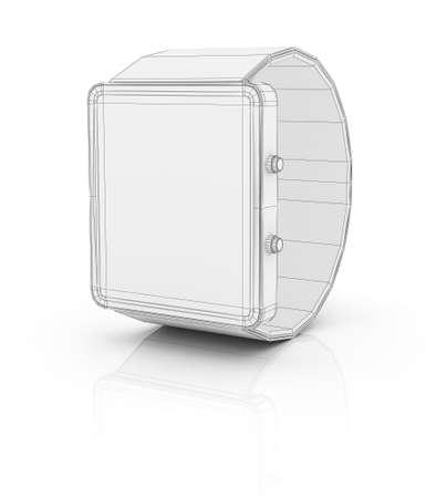 prototype: Smart watch prototype, template for design. 3D illustration