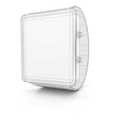 device: Smart watch new technology electronic device. 3D illustration
