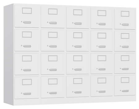 office cabinet: Office cabinet isolated over white background. 3d illustration