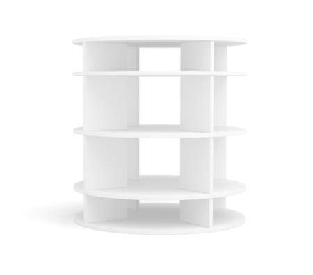 expansive: Empty round shelf for exhibition. Isolated. 3d rendering