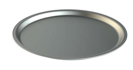 silver plate: Empty silver plate