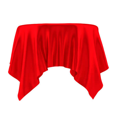 Empty Table with Tablecloth Stock Photo
