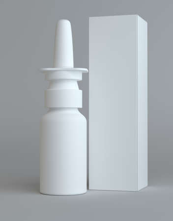 nasal: Spray nasal plastic bottle and tall paper box