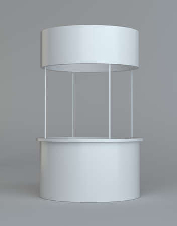 pos: White round POS POI advertising retail stand