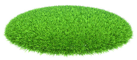 Grass arena isolated on white background