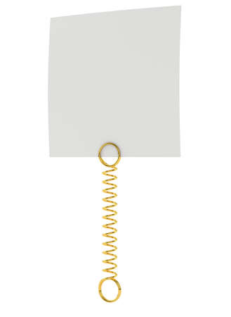 note pad: White paper note pad attached with metal spring. Isolated on white background. 3D illustration