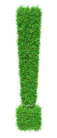 point exclamation: herbe verte point d'exclamation