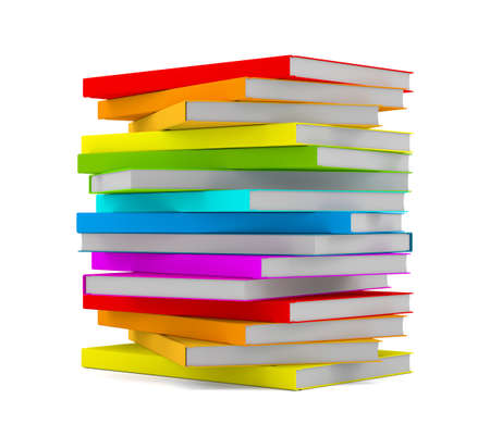 assignments: Books stack - isolated on white background