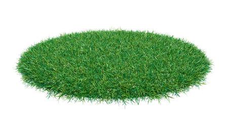 Mock-up round piece of green grass
