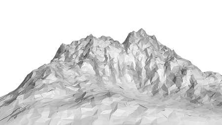White abstract polygonal mountain