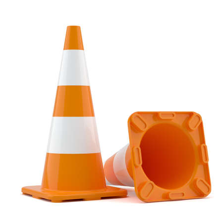 Two traffic cones Imagens - 70680864