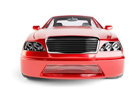 mode of transport: Brandless Generic Red Car Stock Photo