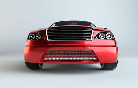 3d mode: Brandless Generic Red Car Stock Photo