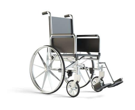 heath: Wheelchair isolated on white background