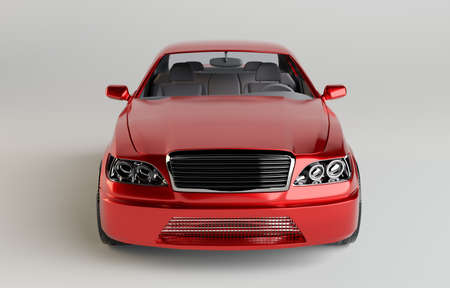 generic: Brandless Generic Red Car Stock Photo