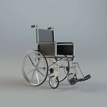 heath: Wheelchair on gray studio background