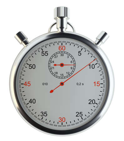 front of: Stopwatch, front view Stock Photo