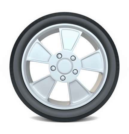 winter tires: High Quality Car Wheel, Isolated