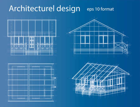 House wireframe structuur. Vector