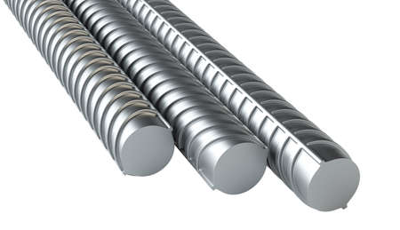 Reinforcement bars, isolated Stock Photo