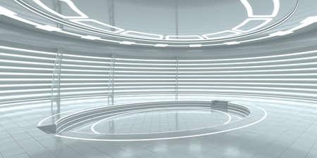 Futuristische lege fase. 3D-rendering