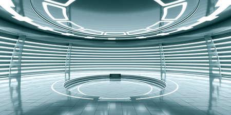 Resumen vacía brillante futurista estación espacial