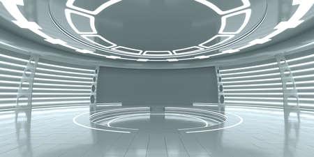 Leeg futuristisch interieur
