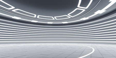 Leeg futuristisch binnenland Stockfoto